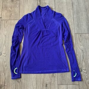 Lululemon Run Trail Tech Long Sleeve Blue